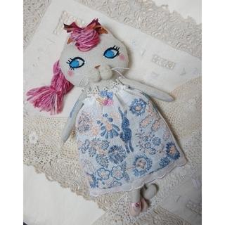 ミナペルホネン(mina perhonen)のバレリーナ猫 着せ替え人形  ぬいぐるみ ミナペルホネン ハンドメイド(ぬいぐるみ)