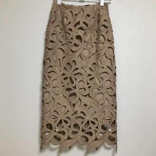 FRAY I.D - セルフォード リボンレーススカート 36   ベージュ CELFORD