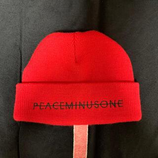 ピースマイナスワン(PEACEMINUSONE)のPMO KNIT CAP #2 RED(ニット帽/ビーニー)