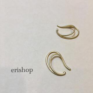 ete - 【新品】イヤーカフ 2連デザイン マットゴールド イヤカフ