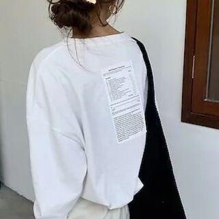 dholic - すぐに発送 バックプリント ロングTシャツ