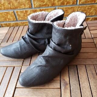 アンドイット(and it_)の2WAYショートボアブーツ  ダークブラウン イベント コスプレ(靴/ブーツ)