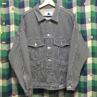 エクストララージ(XLARGE)のXLARGE ヒッコリーワークジャケット デニムジャケット Gジャン ストリート(Gジャン/デニムジャケット)