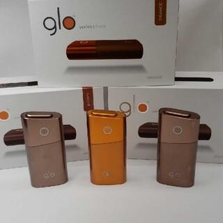 グロー(glo)の人気色コンビ新品未使用 便利2色3台セットglo グロー シリーズ2 mini(タバコグッズ)