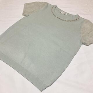 セシルマクビー(CECIL McBEE)のセシルマクビー 半袖 ニット ビジュー(ニット/セーター)