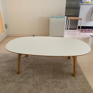 MUJI (無印良品) - 希少 無印良品 オーバルローテーブル 白 MUJI 座卓 ちゃぶ台