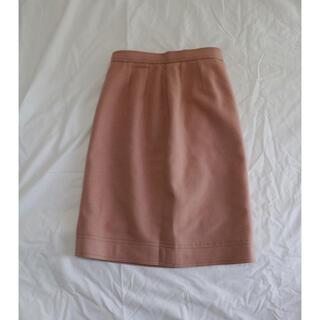 Lochie - くすみピンク ウール膝丈スカート