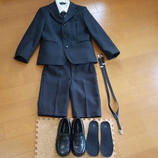 シマムラ(しまむら)の男の子 フォーマルスーツ セット120㎝ 靴21㎝(ドレス/フォーマル)