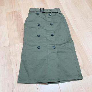 ジーユー(GU)のカーキタイトスカート(ひざ丈スカート)