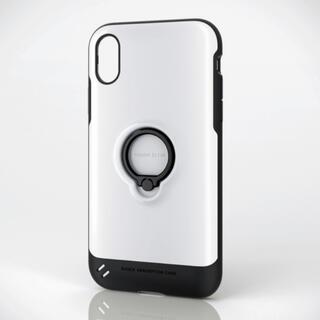エレコム(ELECOM)のiPhone XR用 衝撃吸収TOUGH SLIM ケース フィンガーリング付(iPhoneケース)