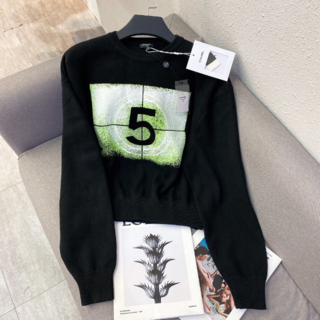 CHANEL - CHANEL▼エレガント 5 ロゴ 黒 プルオーバー  セーター