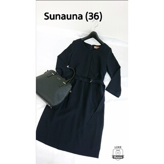 SunaUna - タグ付き♪ スーナウーナ  長袖ワンピース