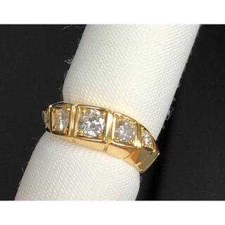 K18 天然ダイヤモンド リング