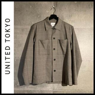 UNITED TOKYO 千鳥格子シャツジャケット ドリズラージャケット