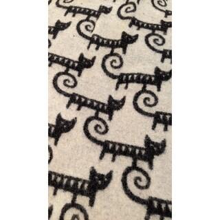 クリッパン(KLIPPAN)のクリッパン ウールブランケット 黒色白色(毛布)