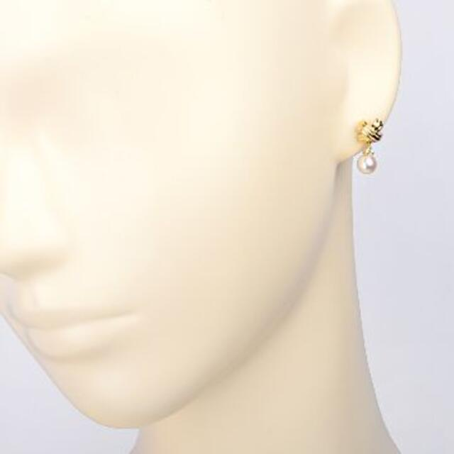 Tiffany & Co.(ティファニー)の【超美品】ティファニー シグネチャー 7.1mmパール ダイヤ付 ピアス レディースのアクセサリー(ピアス)の商品写真