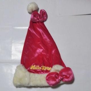 サンリオハローキティーちゃんの可愛いピンクのサンタ帽子!いかがですか?(小道具)