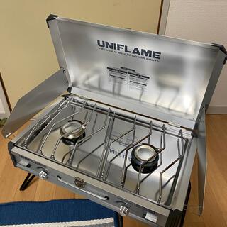 ユニフレーム(UNIFLAME)のユニフレーム ツインバーナー US-1900 美品 ケース付き!(ストーブ/コンロ)