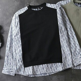 [2枚14000円送料込み] Dior パーカー  長袖 男女兼用