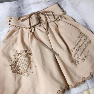 アンクルージュ(Ank Rouge)のAnk Rouge アンクルージュ 鳥かご刺繍ミニスカート(ミニスカート)