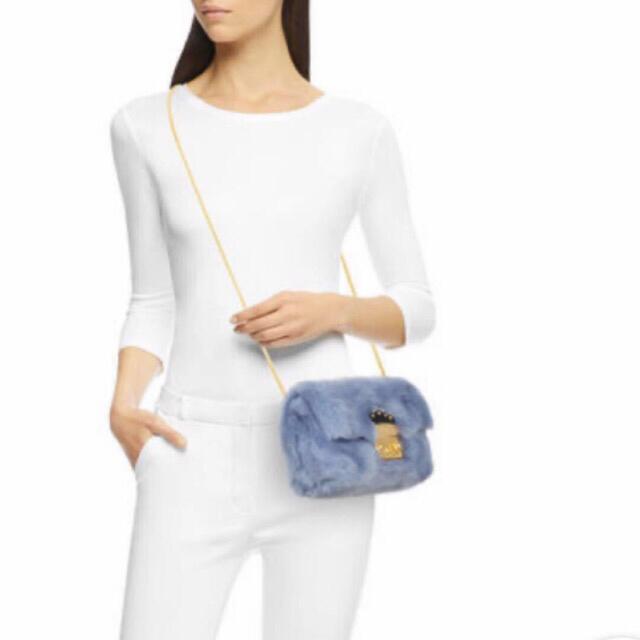 Furla(フルラ)の美品 フルラ メトロポリス ファーショルダー レディースのバッグ(ショルダーバッグ)の商品写真