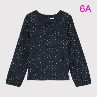 プチバトー(PETIT BATEAU)の新品未使用  プチバトー  衿付き  カットソー  6ans(Tシャツ/カットソー)