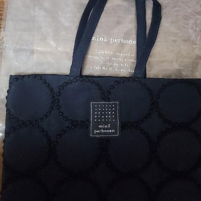 mina perhonen(ミナペルホネン)のミナペルホネン タンバリン トーストバッグ ネイビー レディースのバッグ(ハンドバッグ)の商品写真