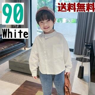 シャツ トップス Yシャツ 長袖 キッズ 子供 男の子 韓国子供服  秋冬