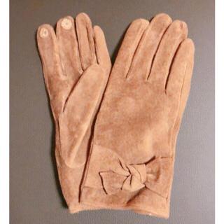 ビューティアンドユースユナイテッドアローズ(BEAUTY&YOUTH UNITED ARROWS)のフェイクスエード リボングローブ ミラオーウェン、アダムエロペ、アーバンリサーチ(手袋)