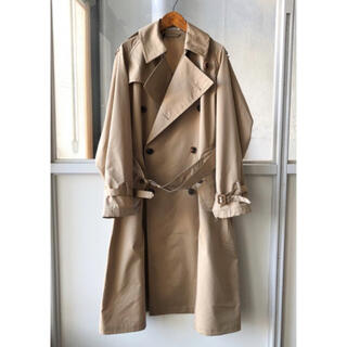 COMOLI - auralee finx polyester big trench coat