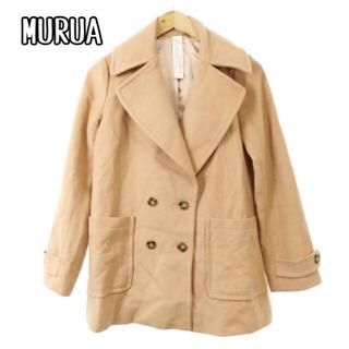 ムルーア(MURUA)のムルーア コート チェスター ロング ダブルボタン ウール F ベージュ(チェスターコート)