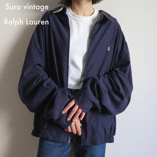 POLO RALPH LAUREN - 90s ラルフローレン 刺繍ロゴ スウィングトップ 古着女子 vintage