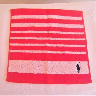 Ralph Lauren - ラルフローレン ミニタオル ハンカチ 紅白 赤 白