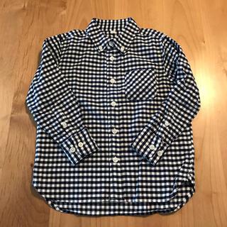 MUJI (無印良品) - MUJI 無印良品 ネルシャツ 110サイズ