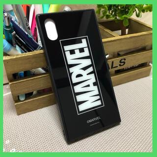 マーベル(MARVEL)の正規品 MARVEL iPhone X/XS対応 iPhoneガラスケース(iPhoneケース)