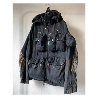 コムデギャルソン(COMME des GARCONS)の希少サイズ vintage オーバーダイ スイス軍 多重ポケット ジャケット(ミリタリージャケット)