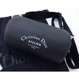 クリスチャンディオール(Christian Dior)のDIOR ディオールオム レザー ショルダーバック 黒 (ショルダーバッグ)