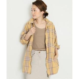 DEUXIEME CLASSE - ドゥーズィエムクラス zipチェックシャツ