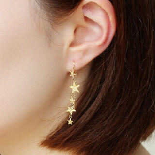STAR JEWELRY - 【Cafe Fragrant Olive】K10 スター ピアス 片耳