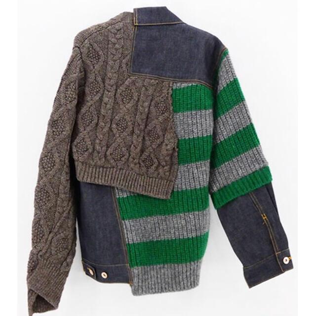kolor(カラー)の20AW Kolor デニムキッドモヘア ニットブルゾン メンズのジャケット/アウター(Gジャン/デニムジャケット)の商品写真
