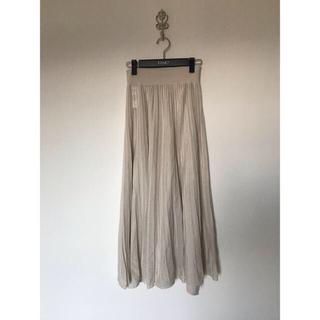Mila Owen - 新品未使用★ミラオーウェン アイボリー ロングプリーツ スカート