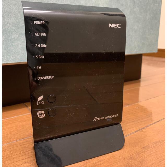 NEC(エヌイーシー)のWiFiルーター AtermWG1800HP2 スマホ/家電/カメラのPC/タブレット(PC周辺機器)の商品写真