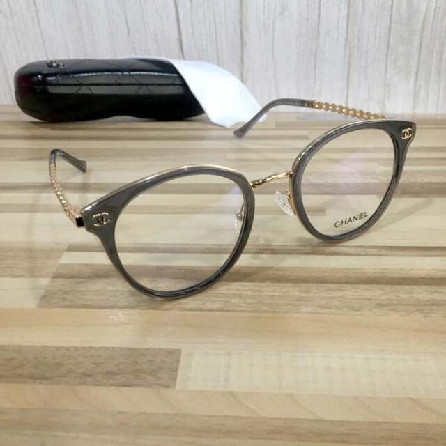 CHANEL(シャネル)のシャネル メガネ 灰フレーム ココマーク3364 レディースのファッション小物(サングラス/メガネ)の商品写真