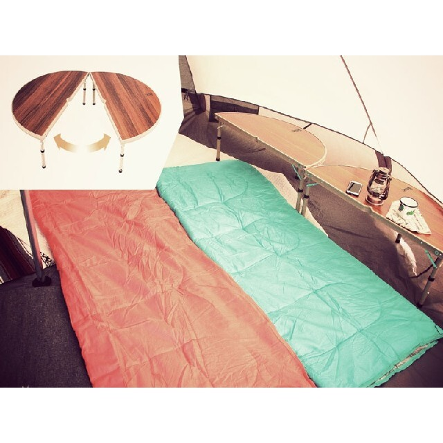 DOPPELGANGER(ドッペルギャンガー)のキャンプ 折り畳み テーブル インテリア/住まい/日用品の机/テーブル(アウトドアテーブル)の商品写真
