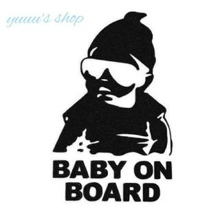 【ブラック】baby on board ステッカー シール ベビーインカー(車外アクセサリ)
