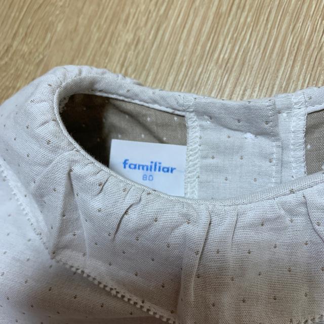 familiar(ファミリア)のファミリア  ブラウス  80 キッズ/ベビー/マタニティのベビー服(~85cm)(シャツ/カットソー)の商品写真