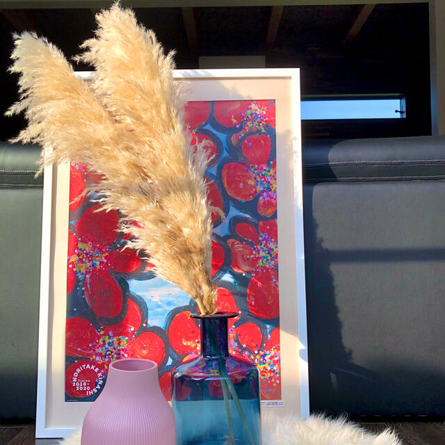 特大パンパスグラス 晩生タイプ 限定3本セット  ハンドメイドのフラワー/ガーデン(ドライフラワー)の商品写真