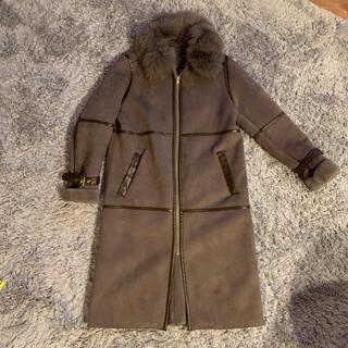ダブルスタンダードクロージング(DOUBLE STANDARD CLOTHING)のムートンロングコート(ロングコート)