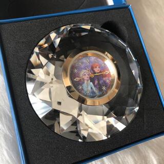 新品箱入り アナ雪 クリスタル  置き時計 ダイヤ ディズニー プリンセス