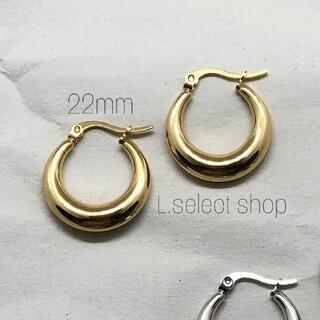 301.plump hoop pierce【gold】